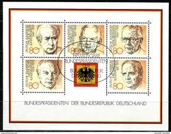 A07-18) BRD - Michel Block 18 = 1156 / 1160 - 53 ESST OO Gestempelt (A) - Bundespräsidenten - Gebraucht