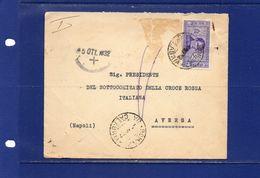 ##(YEL) -Italia 5-10-1932-Roma -   Busta  Dal Presidente Generale Della Croce Rossa Italiana Per Comitato Di  Aversa - Storia Postale