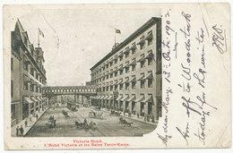 Victoria Hotel. L'Hotel Victoria Et Les Bains Turco-Russe, 1902 Postcard - Quebec
