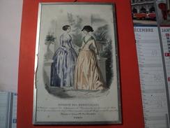 PLANCHE MAGASIN DES DEMOISELLES. MODELES DE MARS 1847 - Vieux Papiers