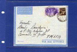 ##(YEL) -Italia 21-6-1941-Firenze -  Cent.50 Fratellanza D'armi Su Busta Via Aerea Per Comando III° Gruppo P.M. 68A - 1900-44 Vittorio Emanuele III