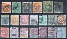 British Guiana Good Selection Of Stamps From Queen Victoria's Reign. - British Guiana (...-1966)