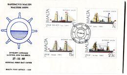 MALTA 1985 FDC With SHIPS. - Malta