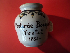 VIEUX POT A MOUTARDE BOCQUET. YVETOT. 1735 DIGOIN ET SARREGUEMINES - Dishware, Glassware, & Cutlery