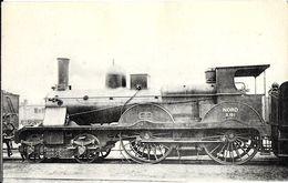 TRANSPORT TRAIN 235 LOCOMOTIVES DU NORD MACHINE  N° 2101 A VAPEUR SATURE INDICATIONS TECHNIQUES AU VERSO EDIT. H.M.P - Trains