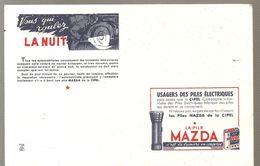 Buvard Pile Mazda Vous Qui Roulez La Nuit - Accumulators