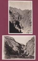 271017 - 2 PHOTOS 1932 - ASIE YEMEN - ADEN Les Réservoirs D'eau - Yémen