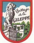 ECUSSON TISSU  BARRAGE DE LA GILEPPE  (6 X 8 Cm) - Scudetti In Tela
