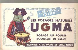 Buvard UGMA Les Potages Naturels UGMA Potage Au Poulet Bouillon De Boeuf - Sopas & Salsas