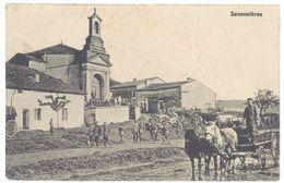 Cpa Savonnières, Attelage, église Animée ( Tampon Au Verso à Voir - 55 ) - France