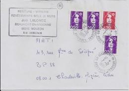 ARDENNES - 08 - BEAUMONT EN ARGONNE    TàD De Type A9 De 1990 - Poststempel (Briefe)