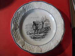 VIEILLE ASSIETTE PARLANTE? CHOISY LE ROY. UN COMPTE A REGLER. HB. N°3 - Plates