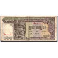 Cambodge, 100 Riels, Undated (1957-75), KM:8c, TB - Cambodia
