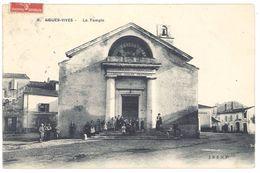 Cpa Aigues Vives - Le Temple  ( Animée ) - Aigues-Vives