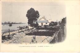 94 - VILLENEUVE SAINT GEORGES : La Seine - Le Grand Mât - CPA Précurseur Colorisée - Val De Marne - Villeneuve Saint Georges