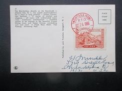 China, P.R.C.: 1966 PPC W/Japan Postmark To USA (#AV2) - 1949 - ... République Populaire