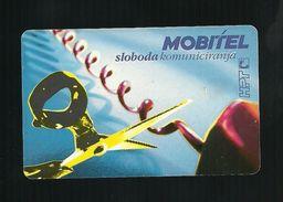 Carta Telefonica Croazia - Mobitel  -  Sloboda - Carte Telefoniche@Scheda@Schede@Phonecards@Telecarte@Telefonkarte - Kroatien