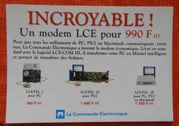 Carte Publicitaire Pour Un Modem LCE - Années 1990 - Informatique - Sciences & Technique