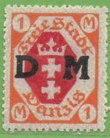 MiNr.11 Xx  Danzig Dienst - Danzig