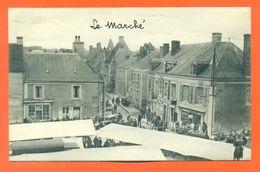 """CPA 72 Tuffé """" Le Marché """" LJCP 51 - Tuffe"""