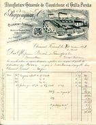 63.CLERMONT FERRAND.MANUFACTURE GENERALE DE CAOUTCHOUC & GUTTA-PERCHA.BERGOUGNAN & Cie. - Zonder Classificatie