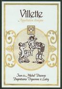Rare // Etiquette // Villette, Jean Et Michel Dizerens, Lutry, Vaud Suisse - Etiquettes