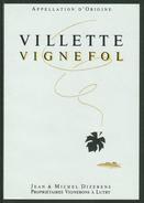 Rare // Etiquette // Villette,Vignefol, Jean Et Michel Dizerens, Lutry, Vaud Suisse - Etiquettes