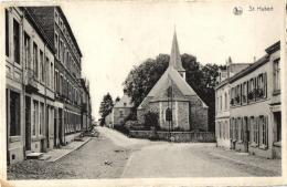 BELGIQUE - LUXEMBOURG - SAINT-HUBERT - Rue St-Gilles, Eglise Et Presbytère. - Saint-Hubert