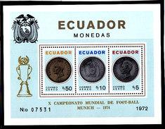 Soccer World Cup 1974 - ECUADOR - S/S Perf. MNH - Copa Mundial