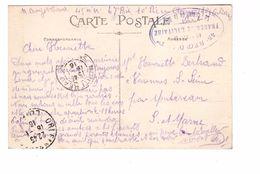 Marcophilie Cachet Militaire 45e Regiment Artillerie 67eme Batterie Le Commandant Guerre 1914 1918 Cachet 1916 - Postmark Collection (Covers)
