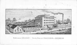 16 - CHASSENEUIL / BONNIEURE Ets LEGALLET Manufacture Cuirs - Bureaux Magasins Rue Abbeville PARIS 10 ème - CPA Charente - France