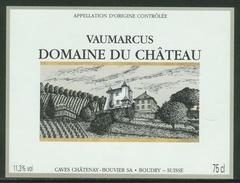 Rare // Etiquette // Vaumarcus, , Domaine Du Château,Bouvier SA, Boudry, Neuchâtel,  Suisse - Etiquettes