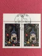 USSR Russia 1970 Pair Happy New Year 1971 Spasski Tower Architecture Clock Celebrations Stamps CTO Mi 3809 SC 3780 - Clocks