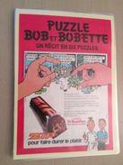 BOB ET BOBETTE DE MOOR BARRE CHOCOLATEE ZIP   -  Pour  Collectionneurs ... PUBLICITE  Page De Revue Des Années 70 Plasti - Bob Et Bobette