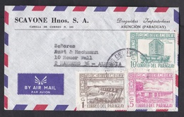 Paraguay: Airmail Cover To Germany, 1972, 3 Stamps, Tourism, Hotel, Bridge, Dam, Hydro-electricity (traces Of Use) - Paraguay