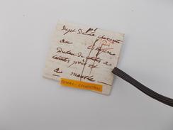 LETTRE AUTOGRAPHE XVIIIe 1799 AN 7 Famille Dulau Celettes Mansle Charente P Triangle Ouvert De Paris Taxée 11 Sols - 1701-1800: Précurseurs XVIII