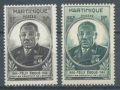 Martinique YT N°218/219 Gouverneur-général Félix Eboué Neuf ** - Martinique (1886-1947)