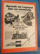 AGRANDIS TON LEGOLAND   -  Pour  Collectionneurs ... PUBLICITE  Page De Revue Des Années 70 Plastifiée Par Mes Soins , - Cataloghi
