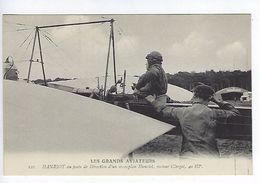 CPA Les Grands Aviateurs Hanriot Au Poste De Direction D'un Monoplan Hanriot N° 121 - Aviateurs