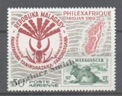 Madagascar 1969 Yvert A 109 - Philexafrique Philatelic Exhibition At Abidjan - MNH - Madagascar (1960-...)