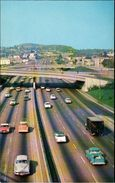 ! Moderne Ansichtskarte Los Angeles, Harbor Freeway, Autobahn, Automobile, Cars - KFZ