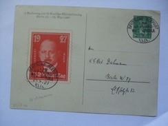GERMANY - 1927 Postcard - 33. Deutscher Philatelistentag Berlin With Deutsche Seepost Afrika Postmarks - Deutschland