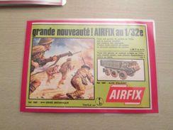 8e ARMEE Et ALVIS STALWART Pour  Collectionneurs ... PUBLICITE AIRFIX Page De Revue Des Années 70 Plastifiée Par Mes Soi - Figurines