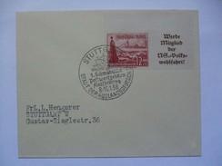 GERMANY - 1938 Cover With Stuttgart Stadt Der Auslansdeutsch Sonderstempel - Germania