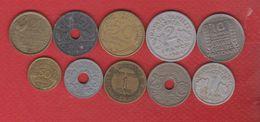 France / Lot De 10 Monnaies - France