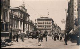 ! Alte Ansichtskarte Roma, Via Nazionale, Tramways, Straßenbahnen - Tram