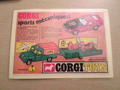 Pour Collectionneurs ... PUBLICITE POUR CORGI TOYS Page De Revue Des Années 70 Plastifiée Par Mes Soins , Ce Qui Garanti - Corgi Toys
