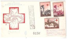 Fdc Venetia S. Marino: CROCE ROSSA 1951 Raccomandata ESTERA - FDC