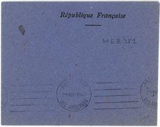 PRÉFECTURE DES ARDENNES  29 Avril 1945  Très Rare KRAG 5 Lignes Droites - Maschinenstempel (Werbestempel)