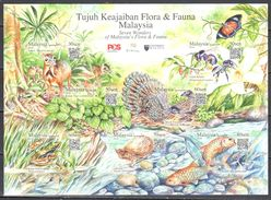 Malaysia 2017 Flora & Fauna - Butterflies - Sheet - MNH(**) - Schmetterlinge